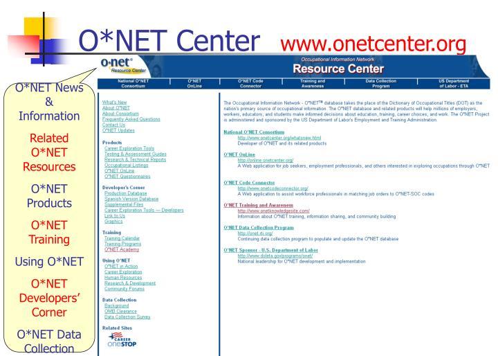 O*NET Center