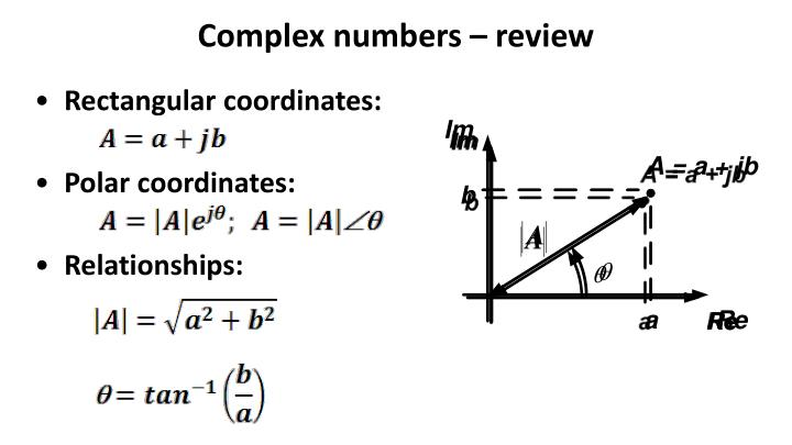 Complex numbers – review