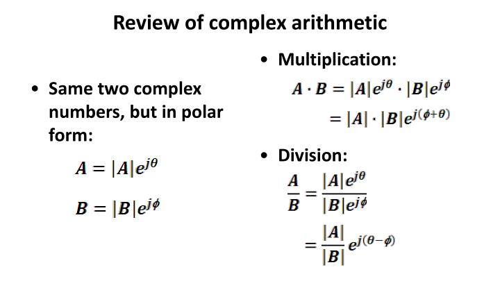 Review of complex arithmetic