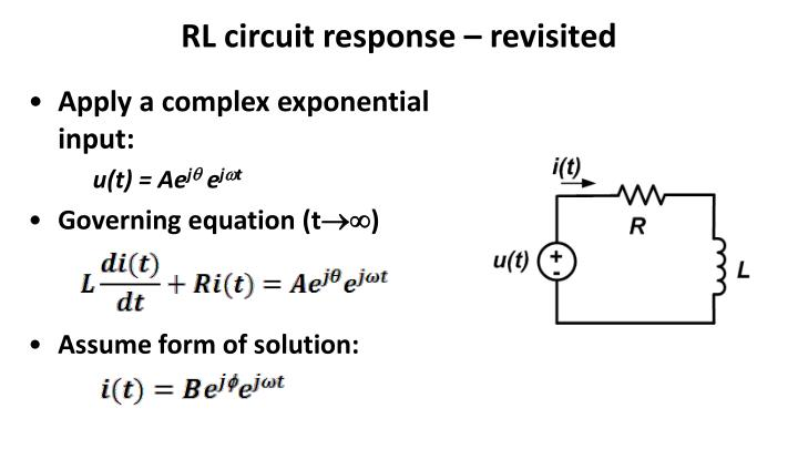 RL circuit response – revisited