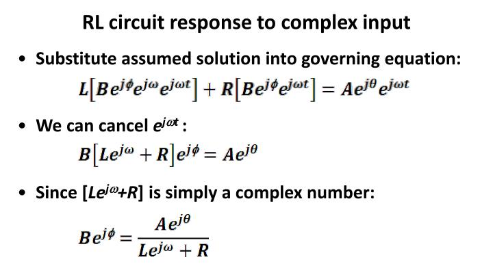 RL circuit response to complex input