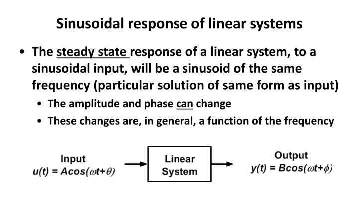 Sinusoidal response of linear systems