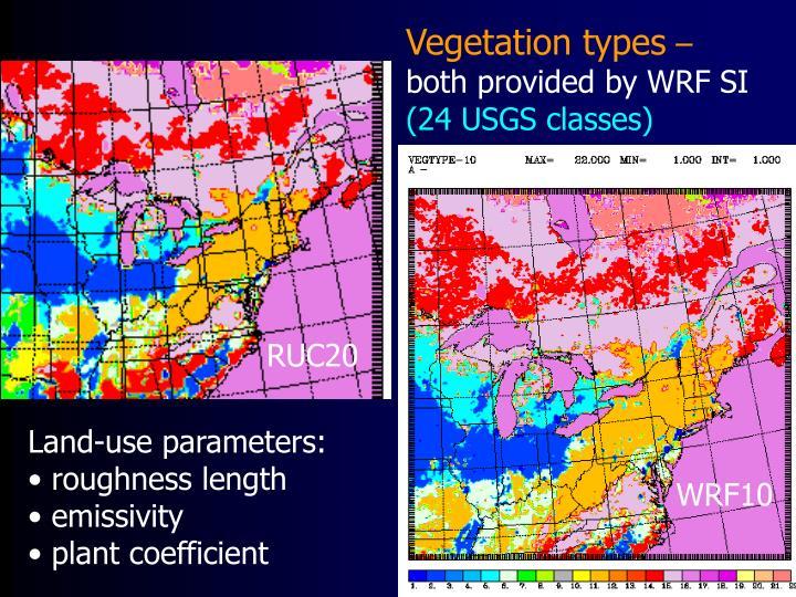 Vegetation types