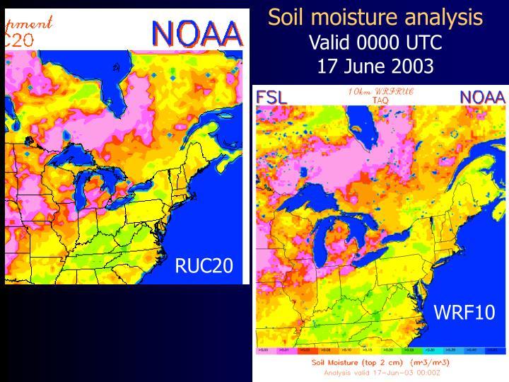 Soil moisture analysis