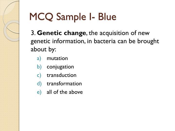 MCQ Sample