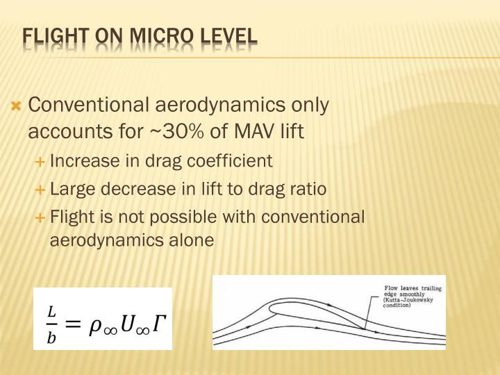 Conventional aerodynamics only accounts for ~30% of MAV lift