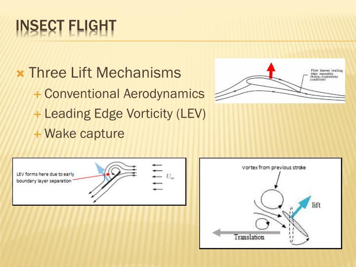 Three Lift Mechanisms