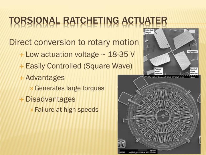 Direct conversion to rotary motion