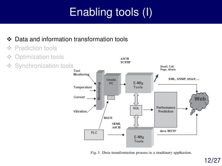 Enabling tools (I)