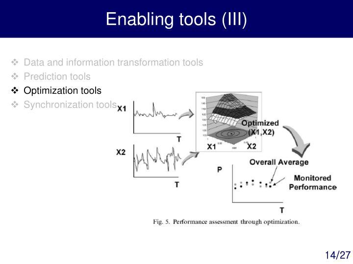 Enabling tools (III)