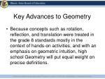 key advances to geometry