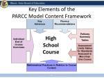 key elements of the parcc model content framework
