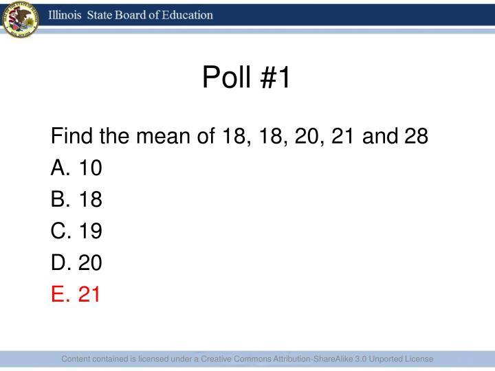 Poll #1