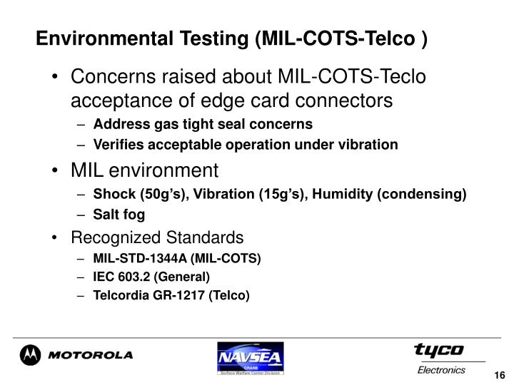 Environmental Testing (MIL-COTS-Telco )