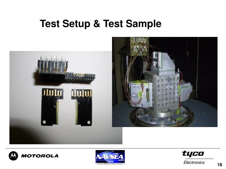 Test Setup & Test Sample