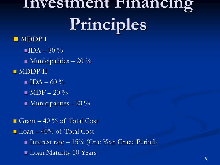 Investment Financing Principles