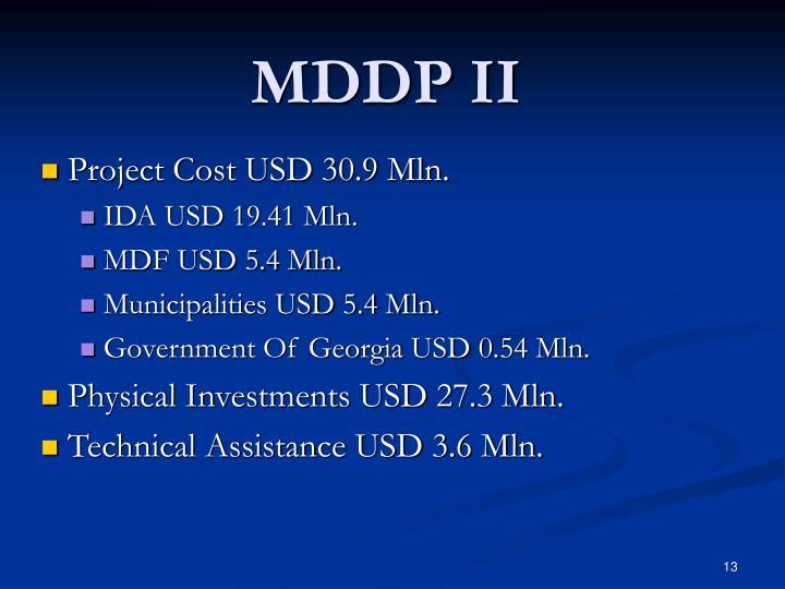MDDP II