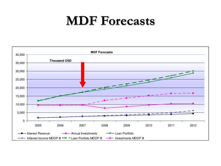 MDF Forecasts