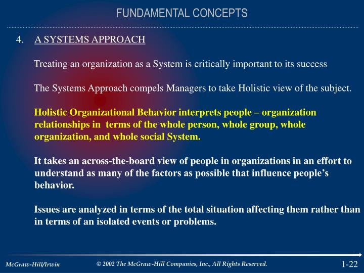 FUNDAMENTAL CONCEPTS