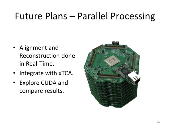 Future Plans – Parallel Processing