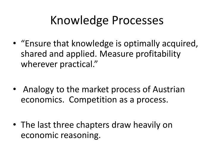 Knowledge Processes