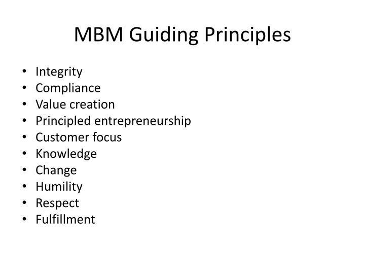 MBM Guiding Principles
