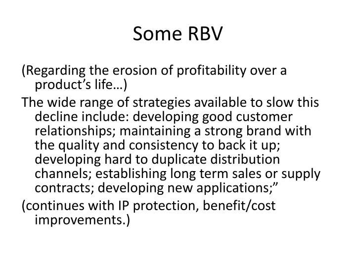 Some RBV