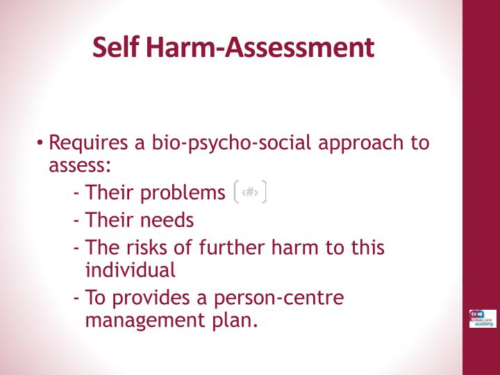 Self Harm-Assessment