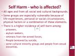 self harm who is affected