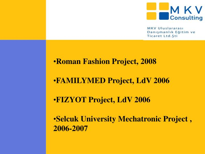 Roman Fashion Project, 2008