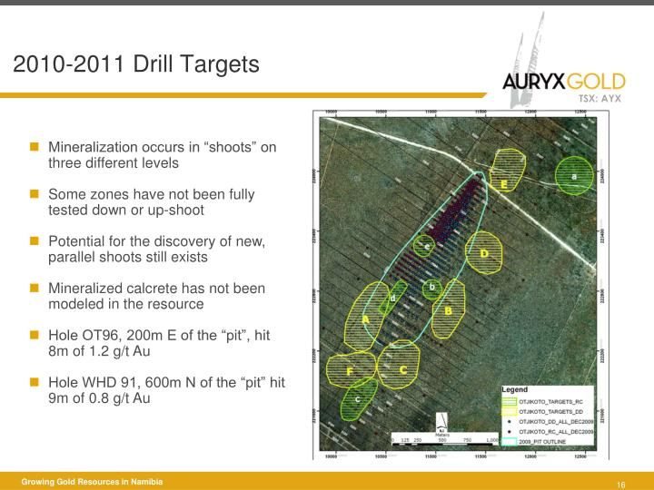 2010-2011 Drill Targets