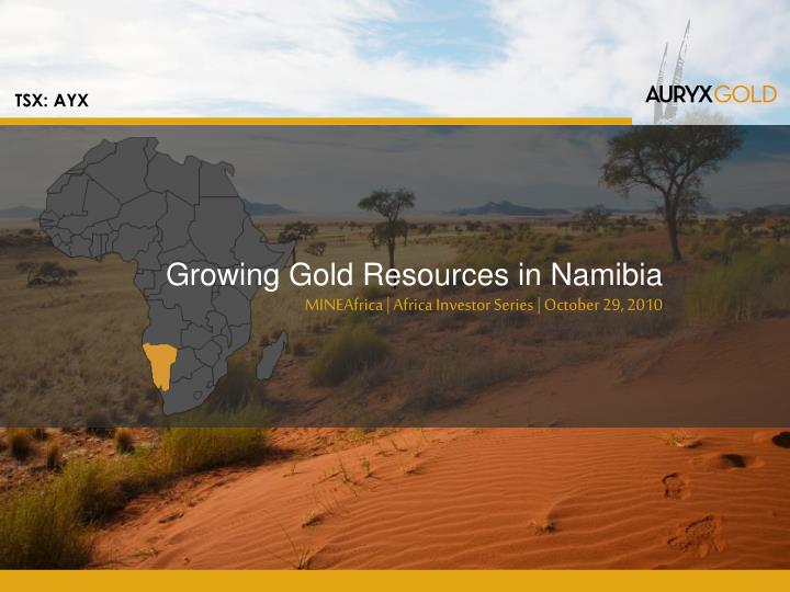Growing gold resources in namibia