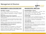 management directors