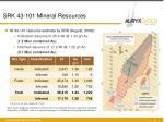 srk 43 101 mineral resources