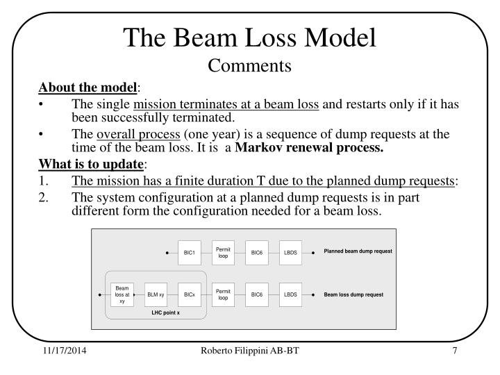 The Beam Loss Model