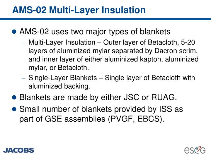 AMS-02 Multi-Layer Insulation