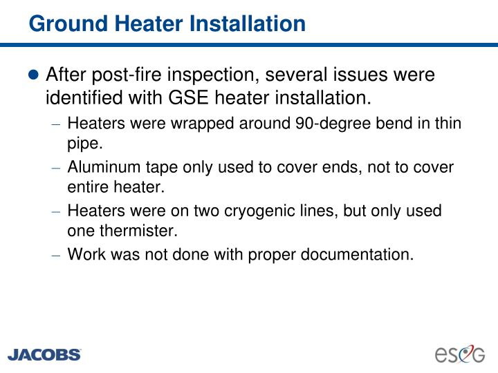 Ground Heater Installation