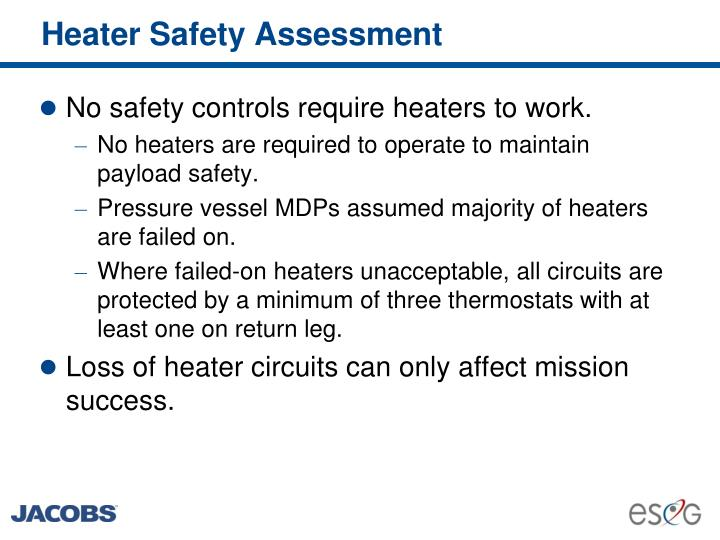 Heater Safety Assessment