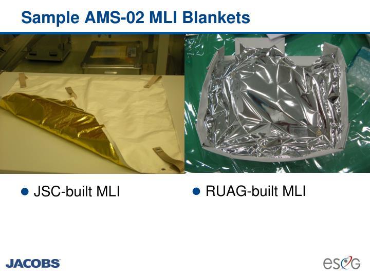 Sample AMS-02 MLI Blankets