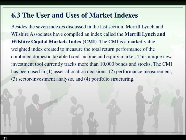 6.3 The User and Uses of Market Indexes