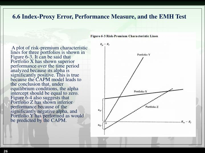6.6 Index-Proxy Error, Performance Measure, and the EMH Test