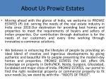 about us prowiz estates
