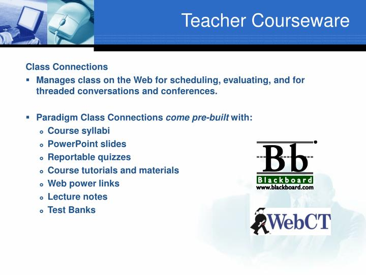 Teacher Courseware