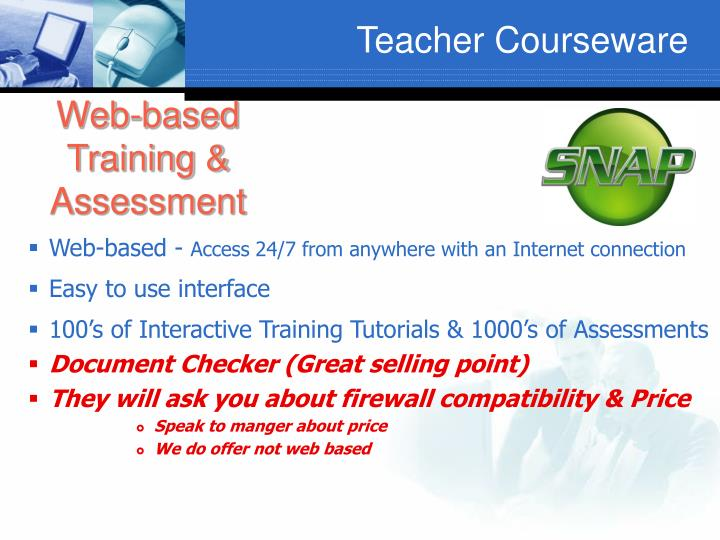 Web-based Training & Assessment