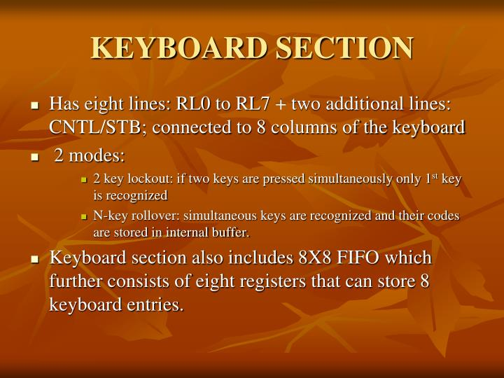 KEYBOARD SECTION
