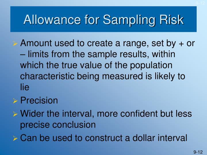 Allowance for Sampling Risk
