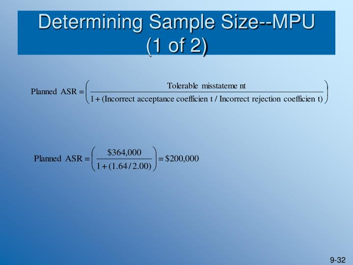 Determining Sample Size--MPU