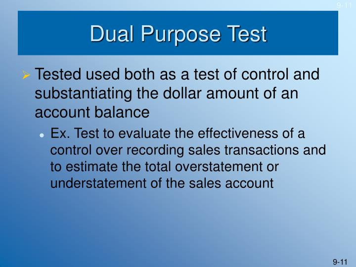 Dual Purpose Test