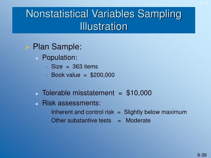 Nonstatistical Variables Sampling Illustration