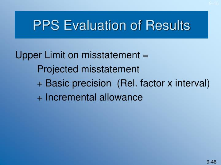 PPS Evaluation of Results